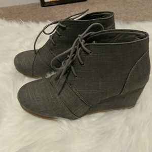 Maurices wedge bootie